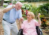 Seniors Conquering Adversity — Stock Photo