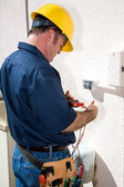 Electrician with Tools — Stock Photo