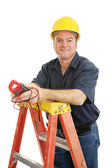 Friendly Electrician Isolated — Stock Photo