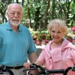 Stock Photo: Active Senior Bikers