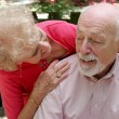 Caring For Husband — Stock Photo