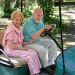 Stock Photo: Golf Cart - Seniors