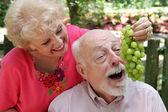 Senior Couple Having Fun — Stock Photo