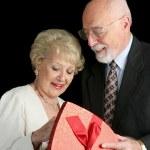 Senior Couple - Valentine Gift — Stock Photo #6628525