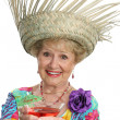 Royalty-Free Stock Photo: Senior Lady - Cheers