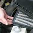Dirty Car Air Filter — 图库照片