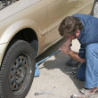 Stock Photo: Mechanic Using Jack