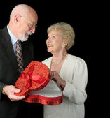 Romantic Valentine Seniors — Stock Photo