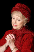 Devoted Senior Lady — Stock Photo