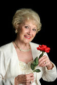 Elegant Successful Senior Lady — Stock Photo
