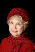 Senior Beauty In Red — Stock Photo