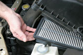 Dirty Car Air Filter — Foto Stock