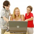 Kids Having Fun Online — Stock Photo #6648790
