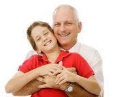 Jongen en zijn papa — Stockfoto