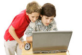 Brothers Online — Stock Photo