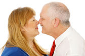 Mature Couple Rubbing Noses — Stock Photo