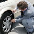 Stock Photo: Flat Tire - Time For Change