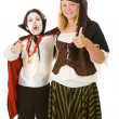 Halloween Kids - Thumbs Up — Stock Photo