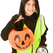 Stock Photo: Trick Or Treating Safely
