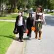 Stock Photo: Trick or Treating in Neighborhood
