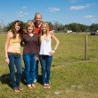 Stock Photo: Beautiful Family on Farm