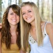 Stock Photo: Beautiful Teen Sisters in Woods