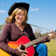 Country Music Cowgirl — Stock Photo