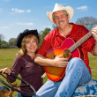Country Western Couple — Stockfoto