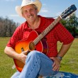 Singing Cowboy — Stock Photo