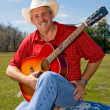 Stock Photo: Singing Cowboy