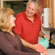 Doing Dishes Together — Stock Photo