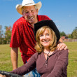 Good Looking Farm Couple — Stock Photo