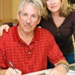 pareja - preocupaciones financieras — Foto de Stock