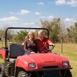 Stock Photo: Mature Couple - Fun on the Farm
