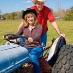 Mature Couple on Farm — Stock Photo #6652361