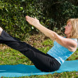 Mature Woman Pilates - Stok fotoğraf