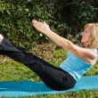 mature woman pilates — Stock Photo #6652377