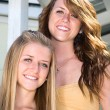 Foto Stock: Portrait of Beautiful Sisters