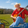 Stock Photo: Singing Cowboy with Copyspace