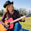 Singing Cowgirl — Stock Photo #6652438