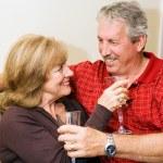 vino y romance — Foto de Stock
