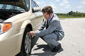 Flat Tire - Inconvenient — Stock Photo