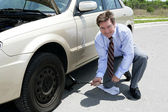 Flat Tire - Jack — Stock Photo