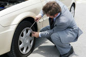 Flat Tire - Time For Change — Stock Photo