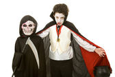 Halloween Kids - Vampire and Reaper — Stock Photo