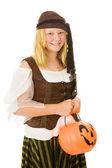 Halloween Pirate Girl — Stock Photo