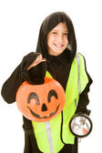 Trick Or Treating Safely — Stock Photo