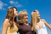 Beautiful Family in Profile — Stock Photo