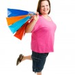 Happy Plus-Sized Shopper — Stock Photo #6667113