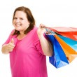Happy Shopper Thumbsup — Stock Photo #6667115